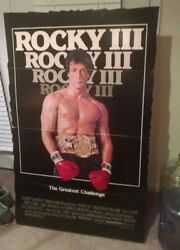Rocky Iii / Original Lobby Stand Up Huge Rare 1 Of A Kind Sylvester Stallone
