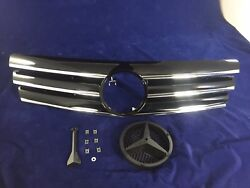 Front Grille Black For '1989-'2001 Benz R129 SL-Class CL Style Without Badge