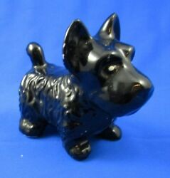 Vintage Black Scottish Terrier Scotty Dog Figurine CUTE