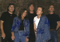 ACDC Hand Signed By Entire Band 'World Tour Promo