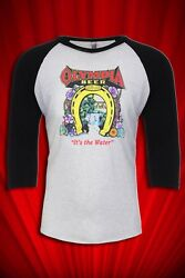 Olympia Beer Vintage 1970s Hippy art Jersey FREE SHIP USA