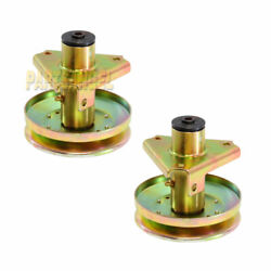 2pk Spindle Assembly For John Deere Am121324 Am126225 Gy00038 Lt160 S1642 S1742