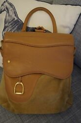 Gucci Rucksack Women Suede and genuine leather form of a saddle