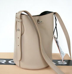 ROCHAS PARIS $1548 tan leather Bel-Air round bucket bag shoulder strap purse NEW