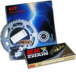 Pbr / Ek Chain And Sprockets Kit 530 Pitch For Yamaha Xjr 1300 2004 2006