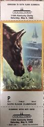 1989 Churchill Downs Clubhouse Admission Ticket