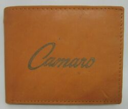Mens Custom Leather Wallet w Chevy Camaro Emblem Car Image *Great Gift* $20.00
