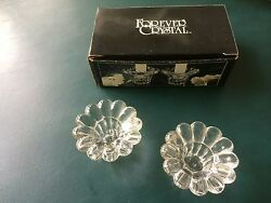 Vintage Forever Clear Crystal Set Of Two Candle Votive Holders New Inbox