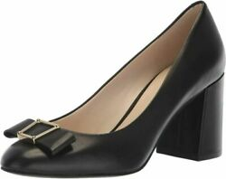Cole Haan Women's Emory Grand Bow Pump 75mm 5.5, Black Leather