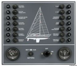 Osculati 14 Switch Electric Control Panel With Led Light Check-panel 15a