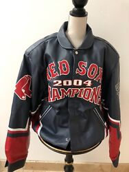 2004 Boston World Series Leather Jacket, Blue,xxl, New, Bought At Game