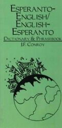ESPERANTO-ENGLISH ENGLISH-ESPERANTO DICTIONARY & PHRASEBOOK By Joseph F. NEW