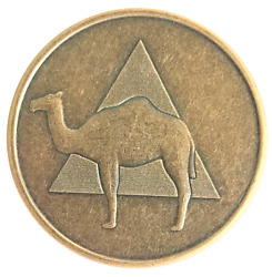 Camel Antique Bronze Aa Coin Alcoholics Anonymous Recovery Token Medallion Chip