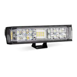 Pair 6inch Dual Side Shooter LED Light Bar 34W 3740LM Spot Flood Combo Work Lamp