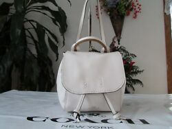 NWT Coach Pebble Leather Derby Backpack or Crossbody Bag F59401 Chalk Neutral