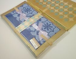 Cannon Vintage Bath Towel And Washcloth 4pc Gift Set Unused Nos 1960s Blue Belle
