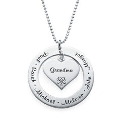 Grandmother / Mother Necklace - Personalized Engraving With Names - Gift For Her