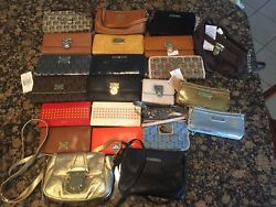 Michael Kors MK Ralph Lauren RLL Dooney Bourke Leather Wallet Wristlet Bag LOT