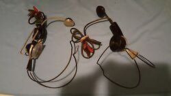 Vintage Tel.co Switchboard Operator Telephone Headsets lot 2