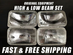 Oe Fit Headlight Bulb For Chevrolet C1500 1988-1991 Pickup Low And High Beam X4