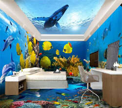 Red White Coral Fish 3d Full Wall Mural Photo Wallpaper Printing Home Kids Decor