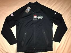 Menand039s Nike Therma Dri-fit Nfl New York Jets Full Zip Coaches Sideline Jacket L