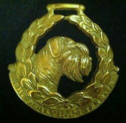 Oversized THE SEALYHAM TERRIER Harness Brass Dog Lover gift! JEE WOW YOUR WALLS!