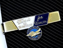 Pratt and Whitney Tie Clip Bar Vintage Advertising No Substitute for Quality