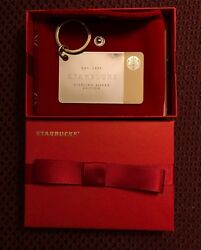Starbucks 2014 Limited Edition Sterling Silver Gift Card W/ Box And 50 Balance