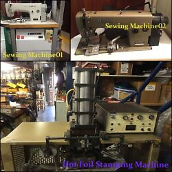 Automatic Belt Stitching Dog Collar And Hot Foil Stamping Machine Leather Factory