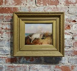 Terrier in action - 19th century English Oil painting