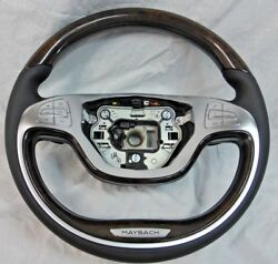Mercedes-benz Maybach Oem W222 S-class 2014-16 Walnut And Leather Steering Wheel