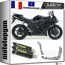 Arrow Ligne Complete Approuve Thunder Carby Carbon Yamaha Yzf 1000 R1 2007 07