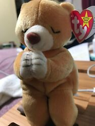 Rare Error Ty Beanie Baby Hope Praying Bear - Excellent Condition