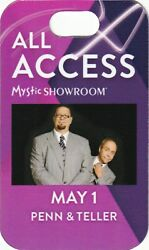 Penn And Teller Pass Meet And Greet Or All Access Or Staff Laminate
