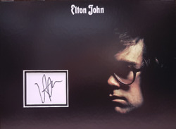 Elton John Signed 40cm X 29cm Photo Display Candle In The Wind Coa