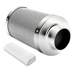 4 Inch Air Carbon Filter Odor Control Scrubber with Virgin Charcoal  Cleaner Air