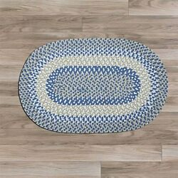 Blokburst Blueberry Pie Braided Area Rug/runner. Many Sizes. Bk58 Blueivorytan