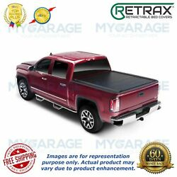 Retrax For 14-18 Chevy Silverado 1500 Pro Mx Tonneau Textured Matte Black 80461