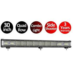 32 inch 350W LED Light Bar Combo Beam Work Off road Truck Boat SUV 4WD Fog Jeep