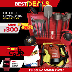 Hilti Te 56 Hammer Drill Preowned Free Watch Bits Extras Fast Shipping