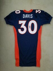 Terrell Davis Signed 97 Game Issued 30 Nike Jersey Size 48 Broncos Psa/dna/coa