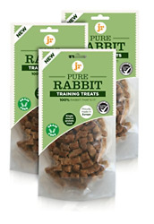 J R Pet Products 100 Pure Dried Fresh Meat Rabbit Training Treats For Dogs 3 X