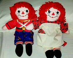1997 Especial Edition Chritsmas Raggedy Anne And Andy Dolls