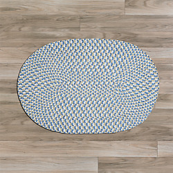 Confetti Blue Braided Area Rug/runner By Colonial Mills. Many Sizes.ti59
