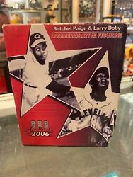 2006 SATCHEL PAGE AND LARRY DOBY CLEVELAND INDIANS COMMEMORATIVE FIGURINE $25.00
