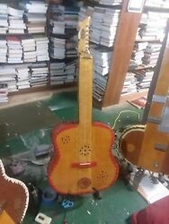 Hand Carved Bamboo Neck Fretless Guitar Aztec Theme Acoustic Guitar Microtonal