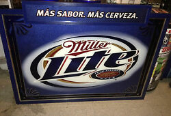 Large 60 X 60 Inches Miller Lite Beer Mirror