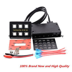 12V24V 6 Gang LED Touch Screen Panel Slim Switch Controls Car Boat Truck Marine