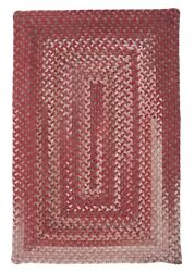 Gloucester Rhubarb Braided Area Rug/runner By Colonial Mills. Many Sizes. Gl78